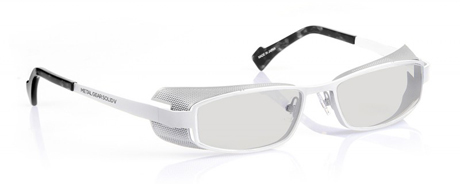 1010 White metal / Blue light-proof lenses
